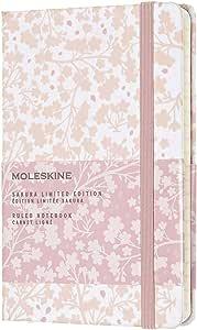 Moleskine - 笔记本限量版 Sakura - 口袋尺寸 - 横格纸 - 白色