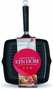 Ken Hom 铸造铝不粘烧烤平底锅,25 厘米 – 黑色 黑色 25 cm KH225004