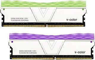 V-Color Prism II RGB(AMD Ryzen)16GB (2 x 8GB) DDR4 3600MHz (PC4-28800) 桌面内存模块 RAM (TL8G36818C-E0P2SFPK)