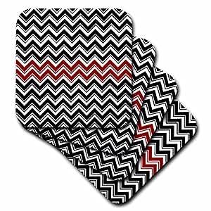 CST 44146ANNE marie baugh V 形条纹–黑色和红色 V 形条纹–杯垫