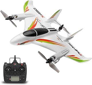 GoolRC WLtoys XK X450 RC 飞机,2.4G 遥控器 6 通道无刷电机飞机,垂直起飞 LED 遥控滑翔机固定翼机 RTF