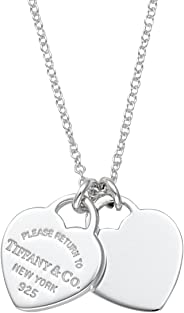 Tiffany & Co 蒂芙尼 雙心迷你吊墜項鏈 純銀 RTT 22309307