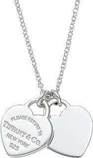 Tiffany & Co 蒂芙尼 双心迷你吊坠项链 纯银 RTT 22309307