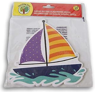 闪光帆船课堂装饰纸切边 - 10 件