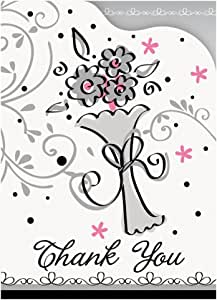 8 Count Wedding Style Thank You Notes