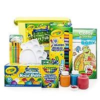 Crayola 绘儿乐 水彩笔颜料蜡笔套组 升级版可水洗7件套 –十色可水洗颜料+24色蜡笔+16色水彩+画刷+填色纸+调色盘+收纳筒