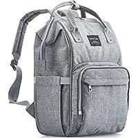 kiddycare 尿布包背包–多功能 POST 孕妇 nappy 记事本–时尚 & 大 BAGS for 旅行与婴儿深灰色 灰色