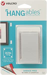 """Velcro(R) Brand HANGables Removable Wall Fasteners 3""""X1.75""""-4/Pkg, Holds Up To 1"""