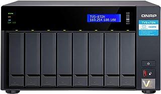 QNAP 威联通 TVS-872N-i3-8G 8-Bay NAS 英特尔酷睿 i3-8100T 4 核 3.1 GHz 8GB DDR4 RAM *大 32GB