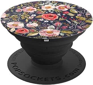 Preppy Pretty Colorful Southern 可爱花朵粉色 – PopSockets 手机和平板电脑握架260027  黑色