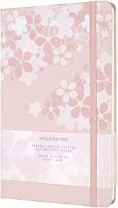 Moleskine 笔记本 2020年 限量版 樱花 笔记本本 硬套 横格 ラージ