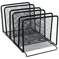 Rolodex Mesh Collection Stacking Sorter, 5-Section, Black (22141) (2, Black)