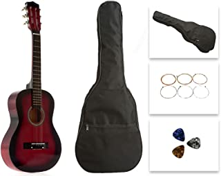 Star Kids Acoustic Toy Guitar 31 Inches Natural with Bag 红色