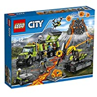 LEGO 乐高 City 系列 火山探险基地 60124 8-12岁 积木玩具