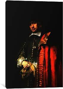 icanvasart 1件套 portrait OF Jan 六1654帆布印刷品 REMBRANDT VAN rijn