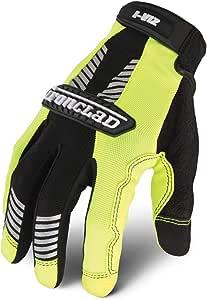 Ironclad IVG2-03-M I-Viz Reflective Green 2 Glove, Medium, 1-Pack