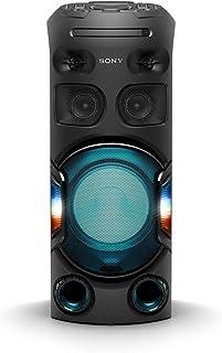 Sony 索尼 MHC-V42D 蓝牙派对音箱(USB,CD/DVD,HDMI,一体式Hifi音乐系统,手势控制,扬声器照明,与Party Chain兼容),黑色