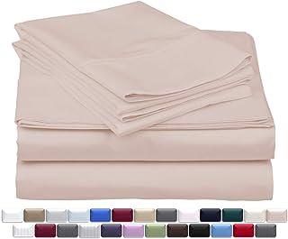 Thread Spread 真奢华 * 埃及长绒棉 - 真正 1000 支 4 件套 - 适合袋深达 45.72 cm 的床垫 腮红 King