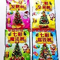 纸树开花魔法樱花树彩色圣诞树迷你许愿树圣诞节小玩具儿童礼物小圣诞树单包价格