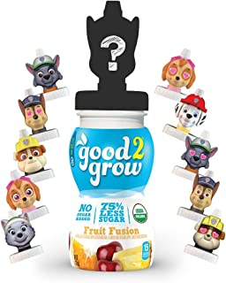 good2grow Organic Low Sugar Paw Patrol Character 75% less sugar Fruit Fusion Juice, 6-pack of 6-Ounce Spill-proof Characte...