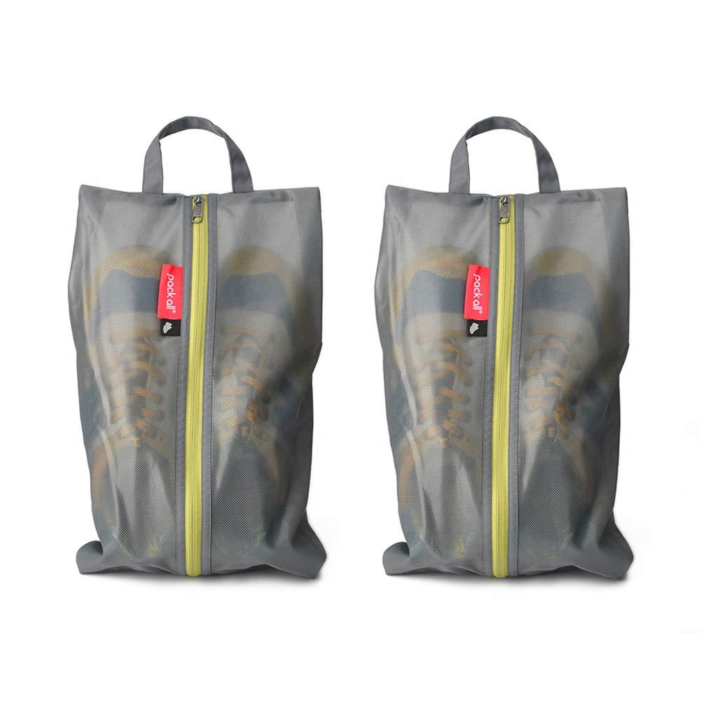 全ての防水シューズバッグを旅行、ジッパー付きポーチ、ユニセックス多色2がロードグレー