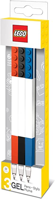 LEGO 文具 - 彩色凝胶笔 3 支装,带积木