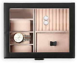 Natico 手表定制配件表壳适用于手链、手表、戒指、耳环和袖扣,黑色 (100-102403)