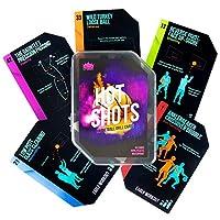 Crown Sporting Goods Hot Shots 篮球钻孔卡 64 张防水塑料卡 - 包括 45 个导向钻、9 个射箭型锻炼、5 个游戏、5 张信息卡 - 非常适合技能训练和训练