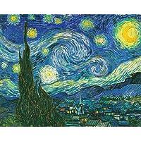 Wieco 艺术油画印刷品,有弹性和镶框,巨大帆布印刷经典梵高复制品,60.96 厘米 x 81.28 厘米 Starry Night 现代墙壁艺术和家庭装饰,随时可悬挂 蓝色 28x20inch (70x50cm) P1XK6080_f1