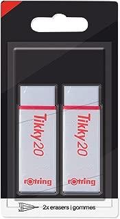 Rotring s0233921 Rapid B - 橡皮擦 Tikky20 Blíster de 2 白色