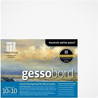 Ampersand Gessobord 适用于亚克力、油和混合介质 3/4 Inch Depth 10X10 GBSC1010