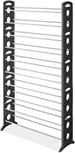 Floor Shoe Tower-50 Pair-Black Frame