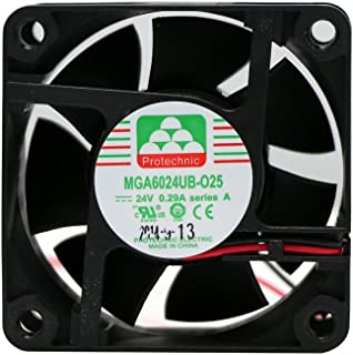 Protechnic 风扇 24v,60 x 60 x 25毫米 mga6024ub-025 a