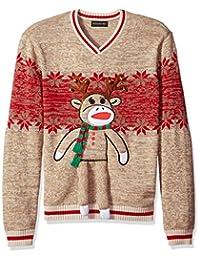 blizzard BAY 男式驯鹿猴子圆领 UGLY 圣诞