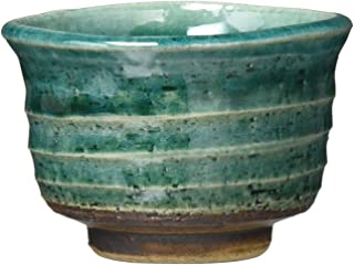 一久 吞口杯 美浓烧 緑彩 123-1667