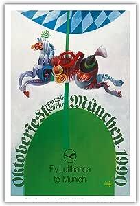 """太平洋岛屿艺术 1990 年 10 月节余 - 德国慕尼黑 - Erhard Schütze 复古世界旅游海报 c.1990 年代 - 艺术大师版画 12"""" x 18"""" PRTB4831"""