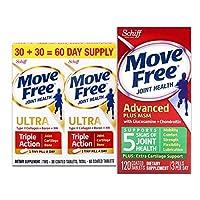 Schiff Move free维骨力氨糖软骨素加MSM绿瓶基础版 120粒+白瓶精华素 60粒 (美国品牌 香港直邮)
