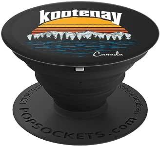 复古 Kootenay Lake 英国科诺加拿大国家公园 PopSockets 手机和平板电脑握架260027  黑色
