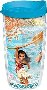Tervis Disney - Moana Adventures 283.50 毫升杯子带蓝色盖 透明 10oz Wavy 1241644