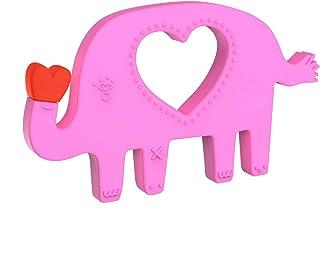 Manhattan Toy 硅胶动物形状牙胶 4.5 x 0.3 x 2.6 inches 粉红色