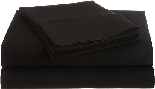 Impressions 1500 系列 * 磨毛超细纤维 3 件套单人床床单套装 纯色 黑色 全部 MF1500FLSH SLBK