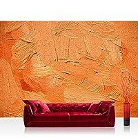 无纺布照片壁纸 PREMIUM PLUS 墙壁照片墙纸墙壁画无纺布壁纸 - 森林OF 橙色手机套 - 抽象背景装饰墙壁粉笔彩色墙壁橙色 - 无。 108 橙色 Vlies 350x245cm | PREMIUM PLUS FTVLPP-0108-350X245