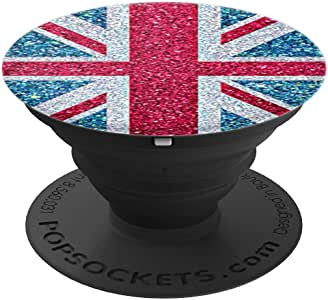 Pop Socket Popsockets 英国国旗安装支架 - PopSockets 手机和平板电脑握架260027  黑色
