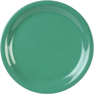 Global Goodwill 12-Piece Narrow Rim Plate, 7-1/4-Inch, Green