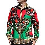 Raan Pah Muang Funk 工装衬衫非洲大喜吉节日长袖欧式领 * X-Large