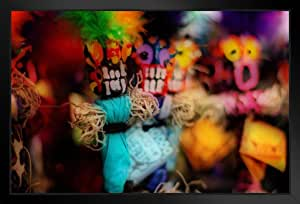 海报 Foundry Voodoo Dolls 法国四分之一新奥尔良·路易斯安那照片艺术印刷品 ProFrames Multi-color / 3304 Framed in Black Wood 20x14 inch 160045
