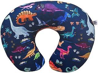 哺乳枕套,*棉,柔软舒适,蓝色恐龙印花,孕妇哺乳枕枕套,新生儿婴儿枕套