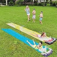 YJT 草坪水滑梯滑梯儿童草坪户外防水滑梯防水布 - 儿童户外草坪后院享受乐趣(2件装)