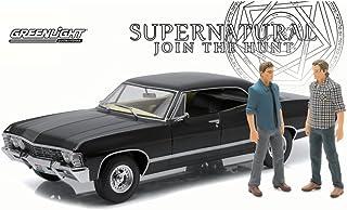 Greenlight Supernatural 1967 雪佛兰羚羊运动,黑色 19021 - 1/18 比例压铸模型玩具车