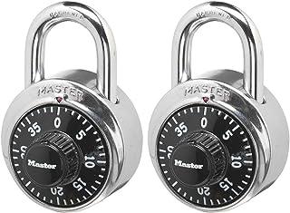 组合锁,不锈钢,3.49 cm 宽,黑色表盘,2 只装,单个出售